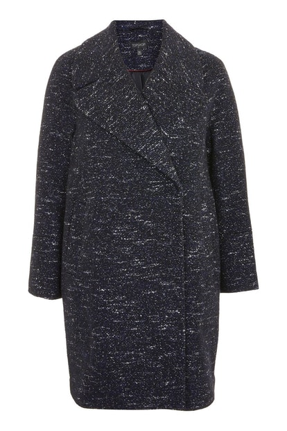 Topshop Boucle Fleck Cocoon Coat