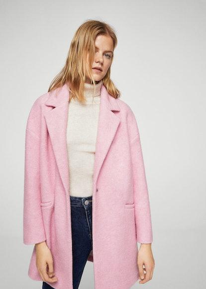 Mango Unstructured wool-blend coat