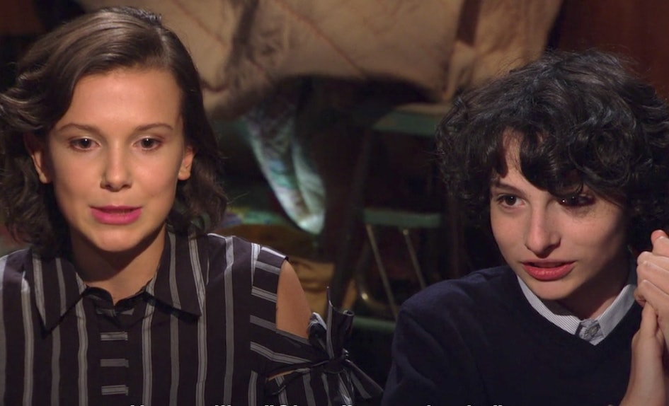 stranger things season 2 kissing scenes explained by the cast is