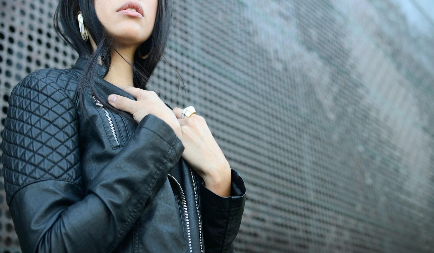 RACHEL Ladies Leather Jacket Cherry Classic Fashion Real Leather Jacket