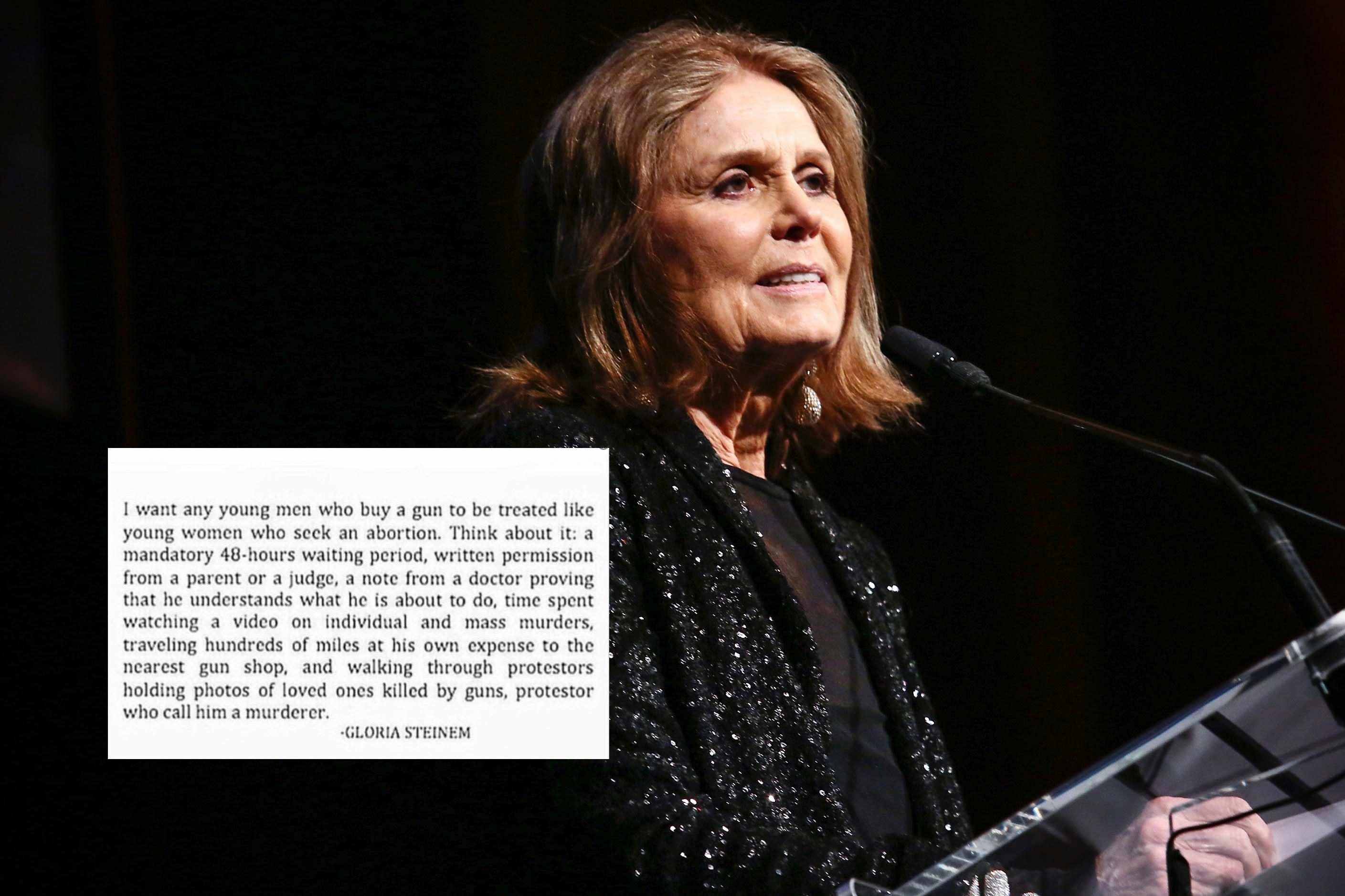 Gloria Steinem Didn\'t Write That Viral Guns & Abortion Quote ...