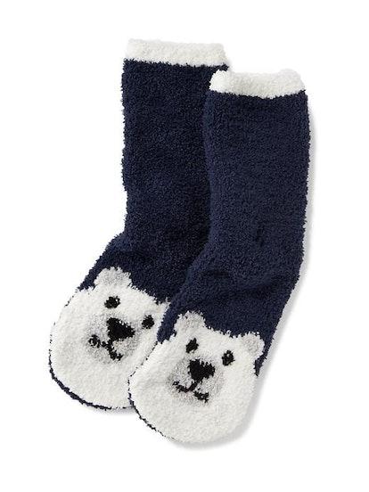 Chenille Bear Socks