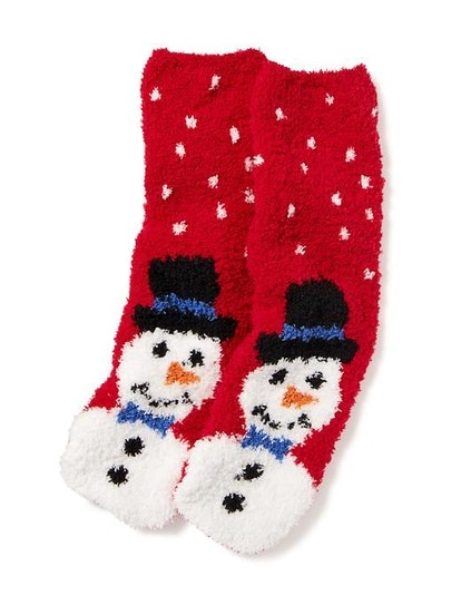 Chenille Snowman Socks