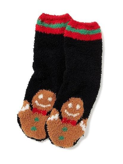 Chenille Gingerbread Socks