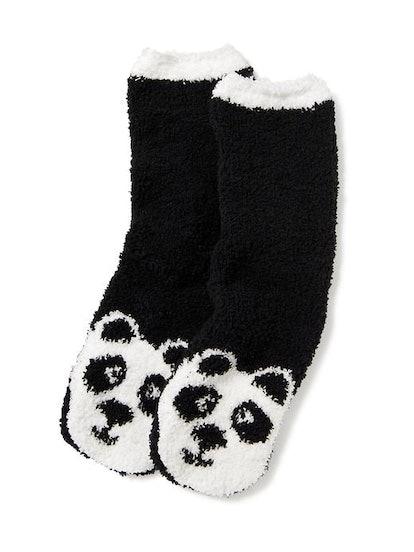 Chenille Panda Socks