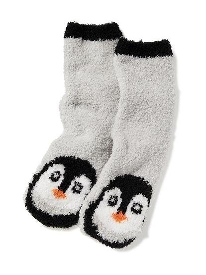 Chenille Penguin Socks