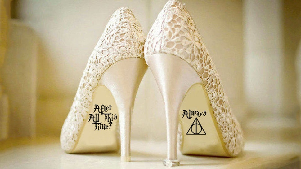 8078beb9ab5f These Harry Potter Wedding Shoe Decals Will Make You Feel As Glamorous As  Fleur Delacour On Your Big Day