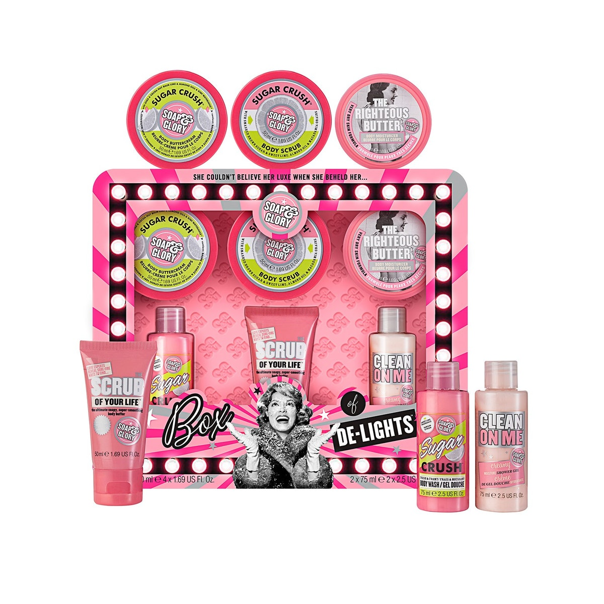 Soap & Glory Box Of De-Lights Gift Set