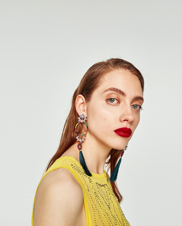 Hoop Earrings With Fringe