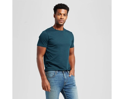 Men's Slim Fit Solid Crew T-Shirt - Goodfellow & Co