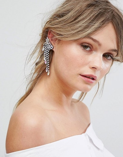 New Look Disco Jewelled Ear Cuffs