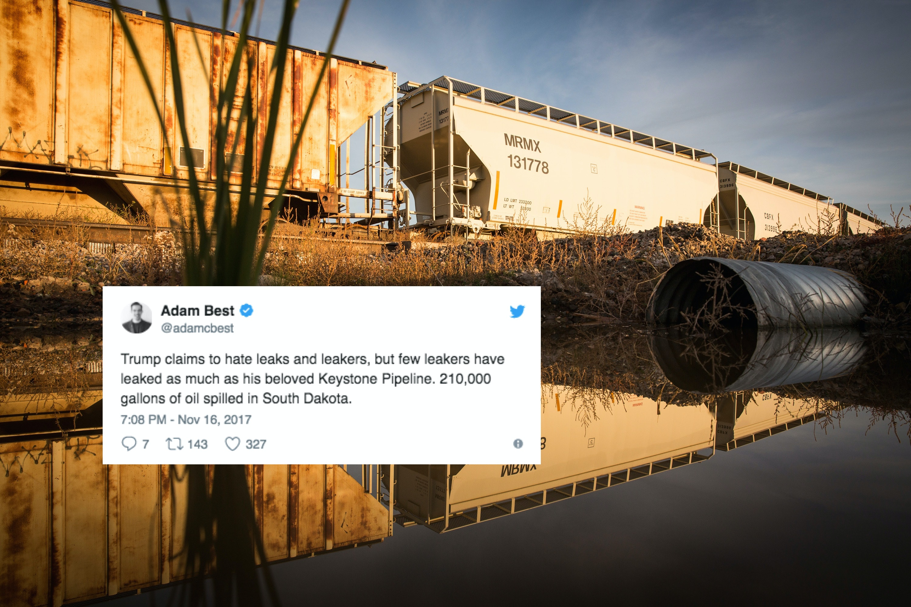 210000 Gallons Of Oil Spilled From The Keystone Pipeline Twitter