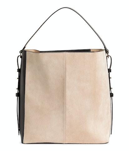Handbag with Suede Details