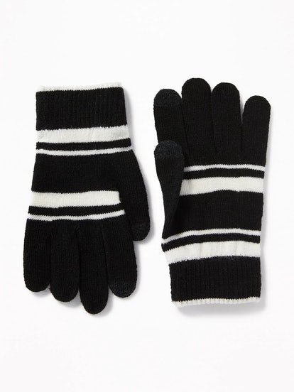 Printed Text-Friendly Sweater Gloves for Women