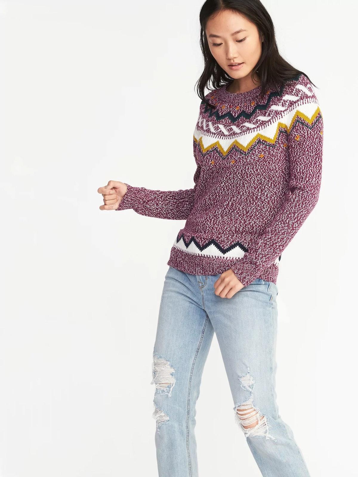 Classic Fair Isle Sweater for Women