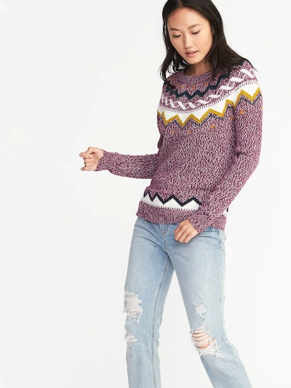 Classic Fair Isle Sweater for Women