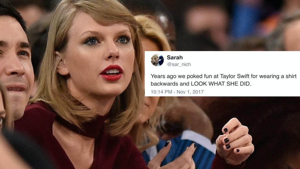 d0e7d7e1 Al Bello/Getty Images Sport/Getty Images. Taylor Swift's initial Reptuation  merch ...
