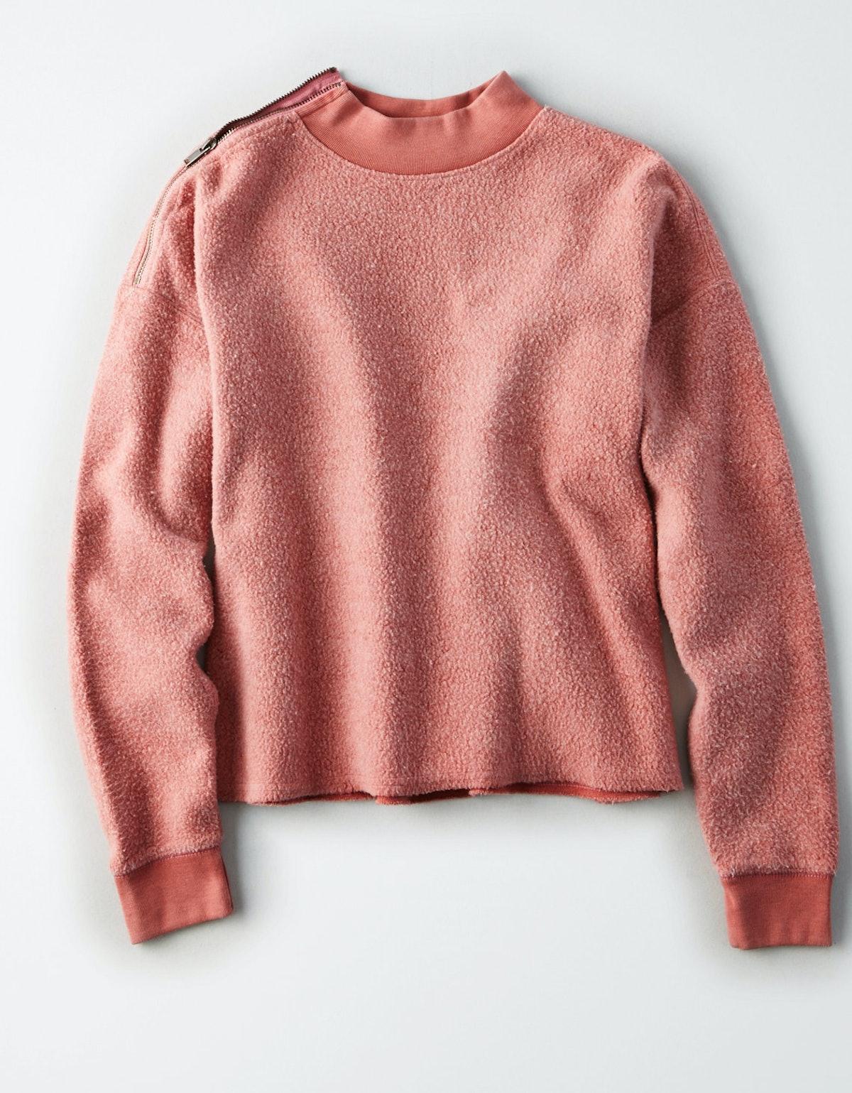 Inside Out Zip Shoulder Sweat Shirt
