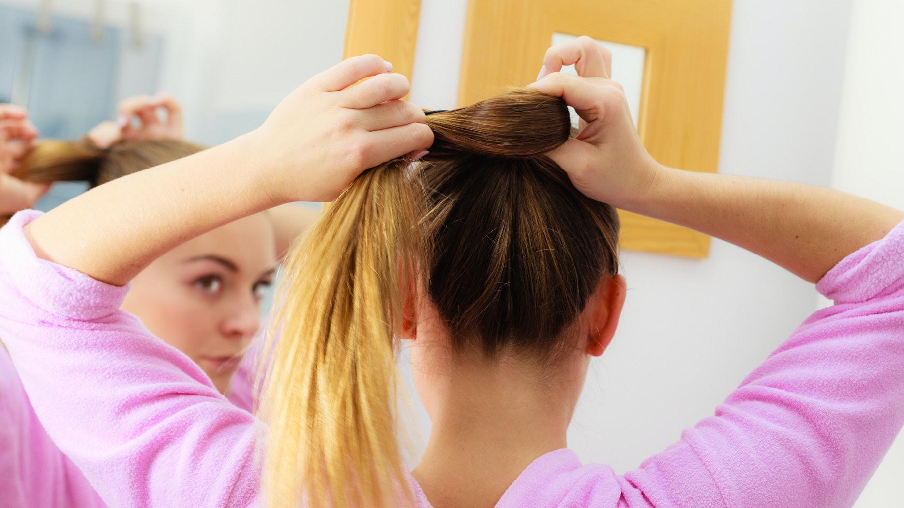 100 coloured thin hair elastics