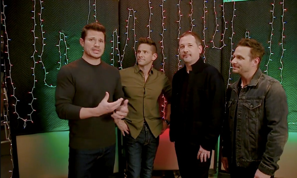 98 degrees favorite christmas memory together is definitely not what youd expect video - 98 Degrees Christmas