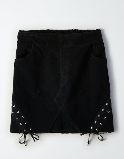 Don't Ask Why Lace-Up Skirt