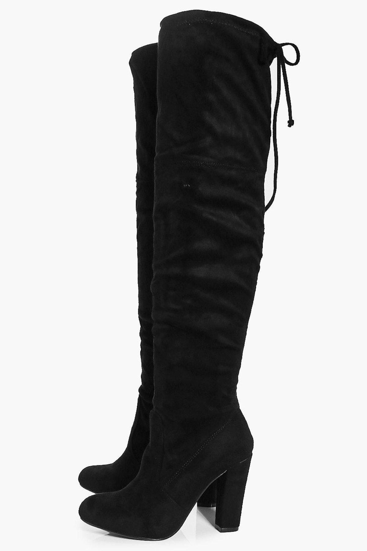 Rebecca Block Heel Thigh High Boot
