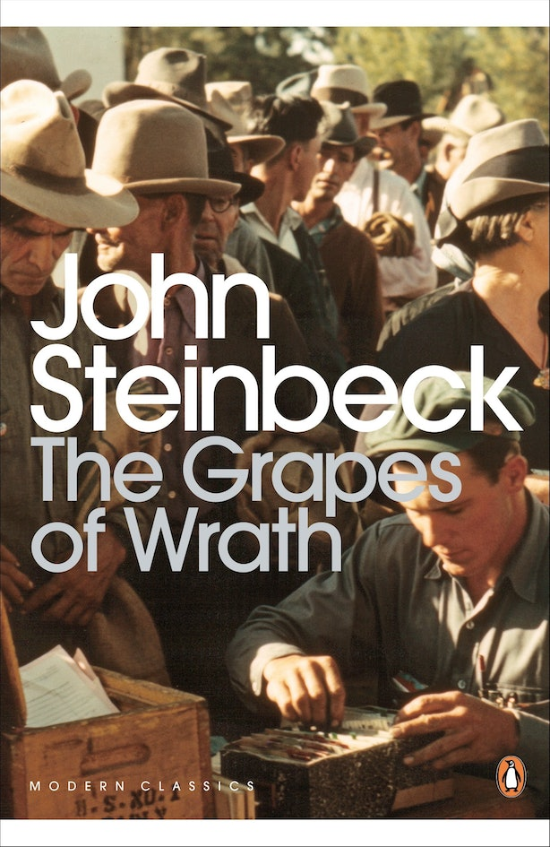 """a change from individual thinking to widespread thinking in the grapes of wrath by john steinbeck The grapes of wrath, no 65 in this series, is a novel with blood on its teeth  """" women can change better than a man,"""" she says  she never thought the novel  was exaggerated, supported steinbeck  a riverbed that, when we had passed,  going into italy, had been wide, stony and dry, was running brown,."""