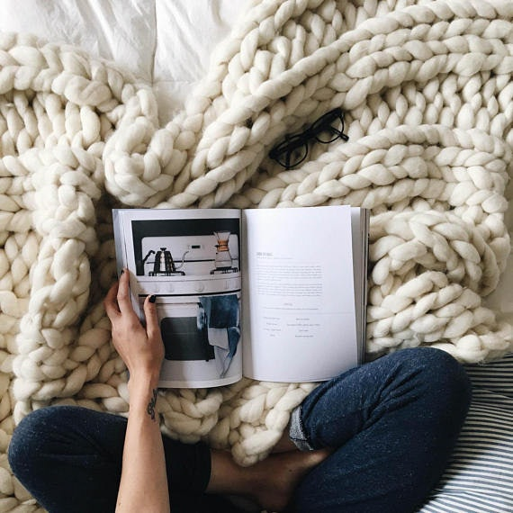 21 unique gifts to give your best friend during the 2017 holiday 10chunky knit blanket etsy gumiabroncs Images