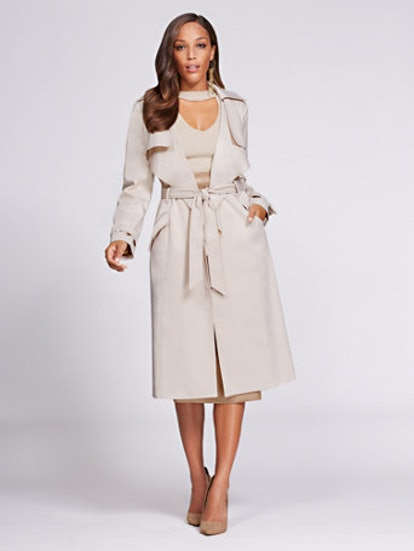 Gabrielle Union Collection Piped Trench Coat