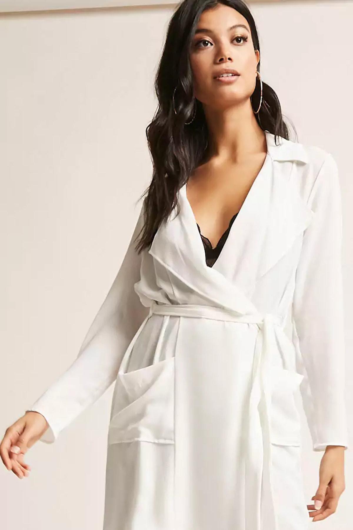 Longline Belted Wrap Coat