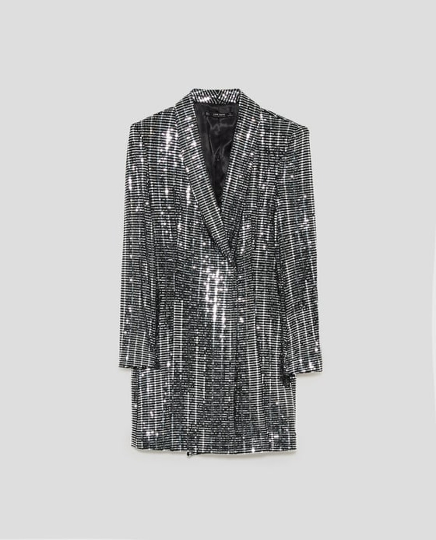 Metallic Blazer Dress