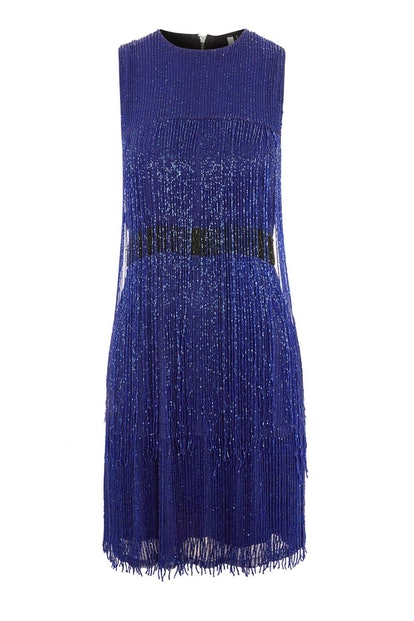 Fringe Beaded Skater Dress