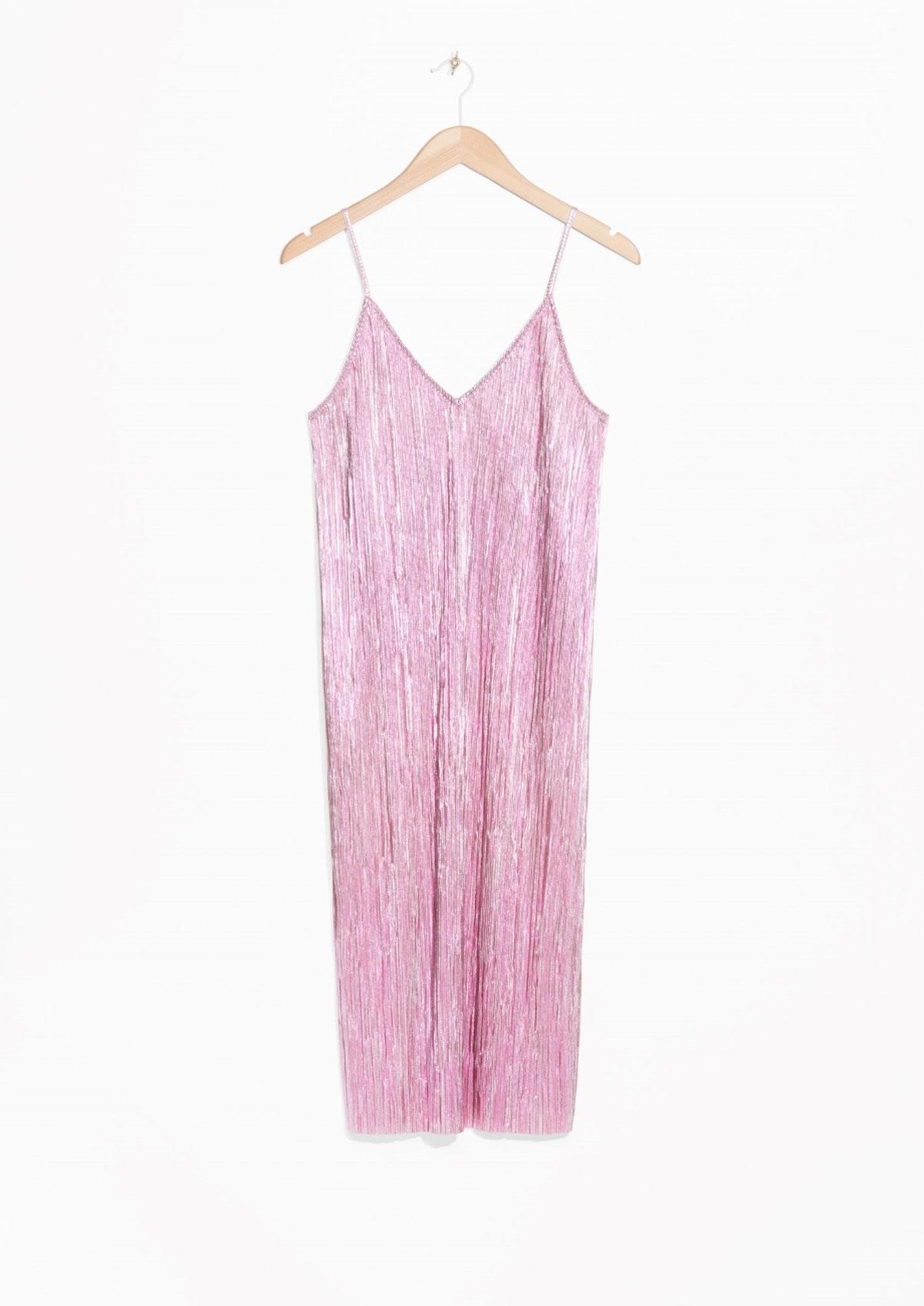 Metallic Sheen Dress