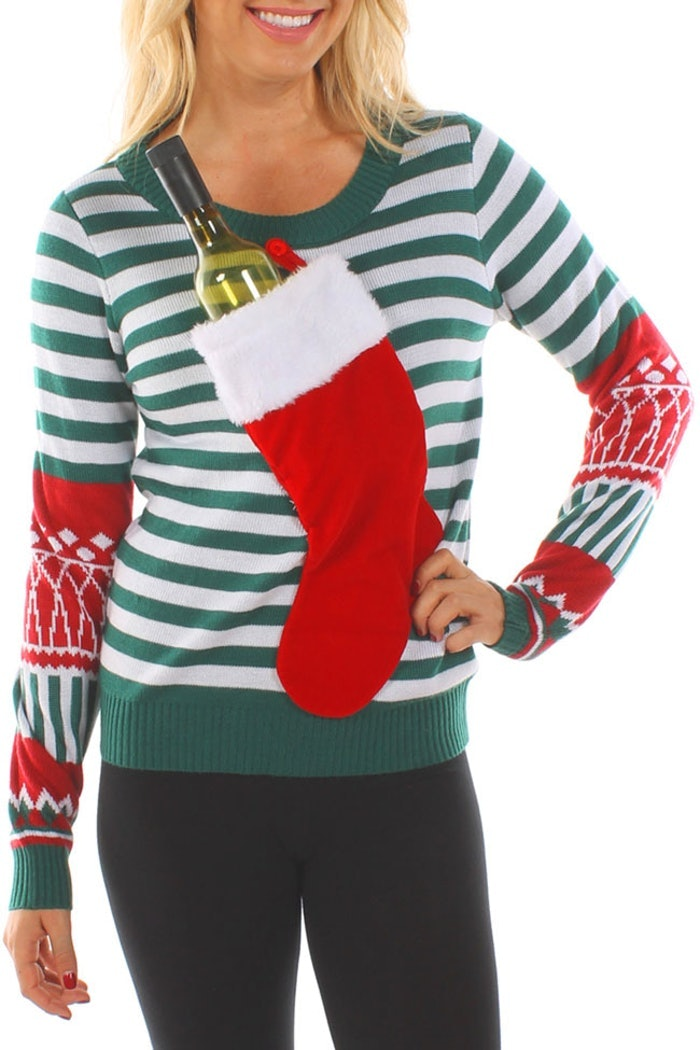 This Ugly Christmas Sweater Can Hide An Entire Bottle Of
