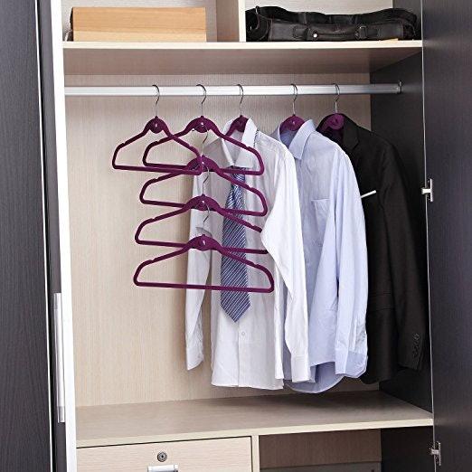 Ordinaire 2Cascading Velvet Hangers That Let You Maximize Tiny Spaces