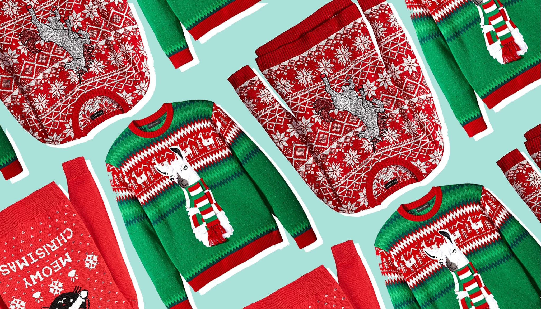Christmas Wine Bottle Ugly Sweater Koozie Choose Color Snowman Reindeer Bells.