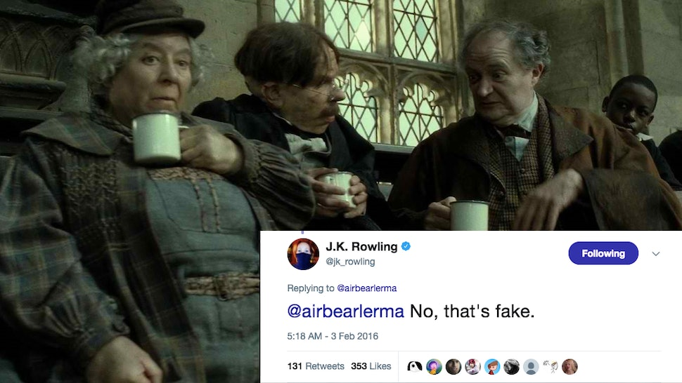 College Humor's Fake J K  Rowling Tweet Accidentally Made It