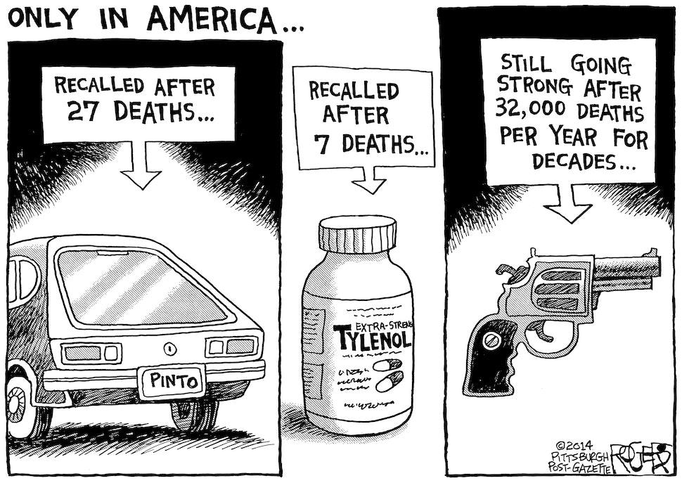 Image result for gun control cartoon