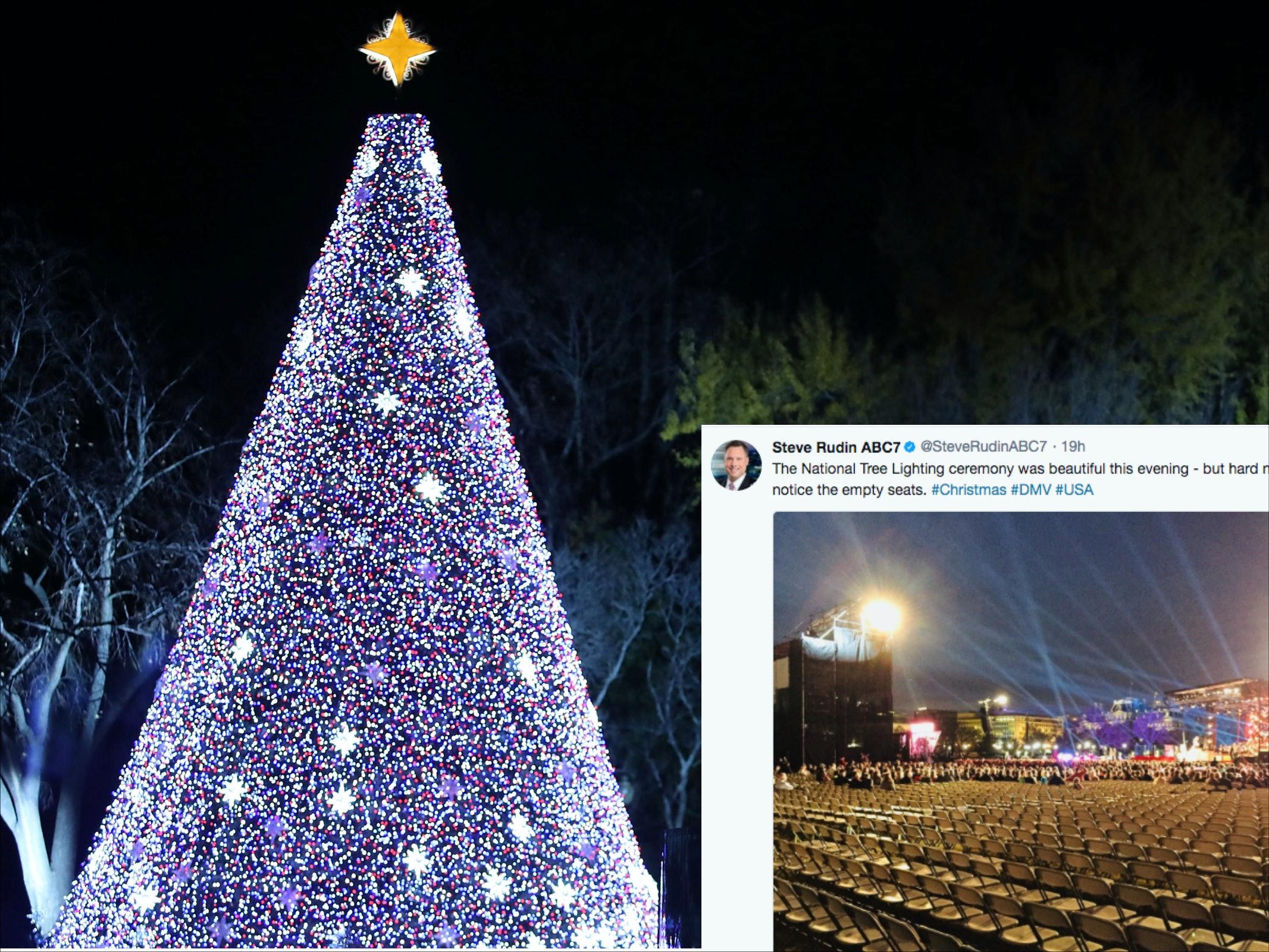 & Photos Of Trumpu0027s Christmas Tree Lighting Are All Kinds Of Awkward