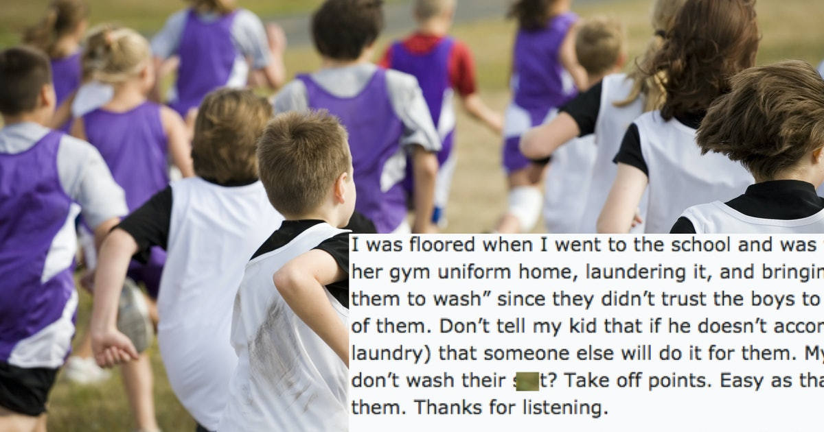 This Viral Post About A Middle School's Gym Clothes Policy