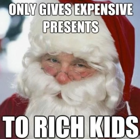funny how that works right santas got to take a closer look at his lists