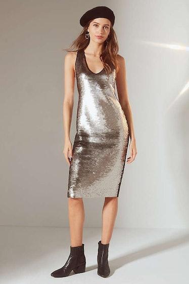 UO Tessa Sequin Tank Midi Dress