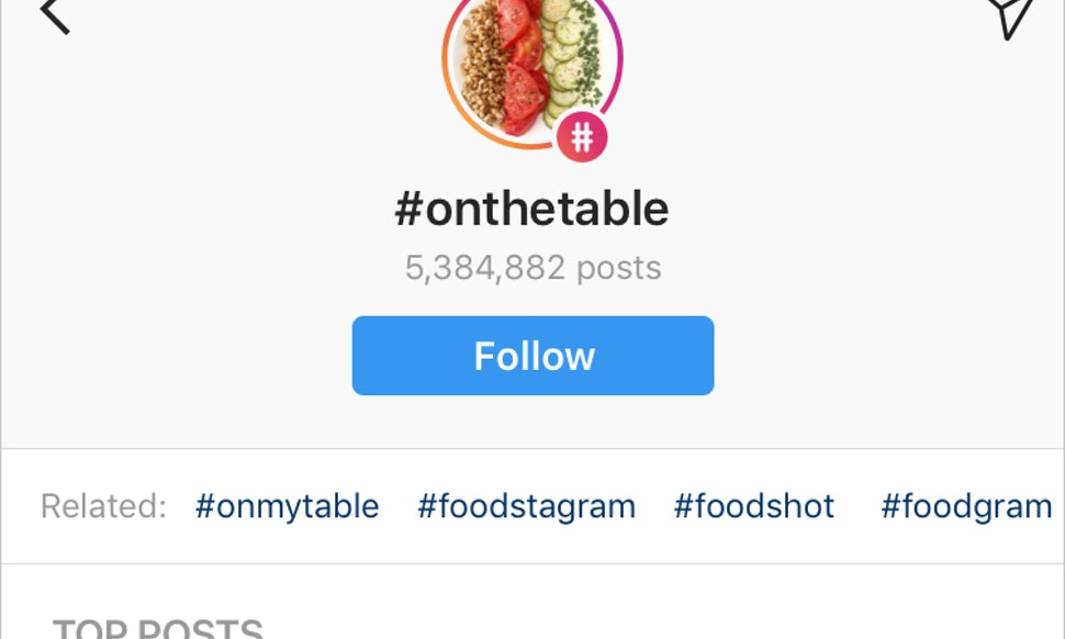 How To Get The Follow Hashtag Button On Instagram So You ...