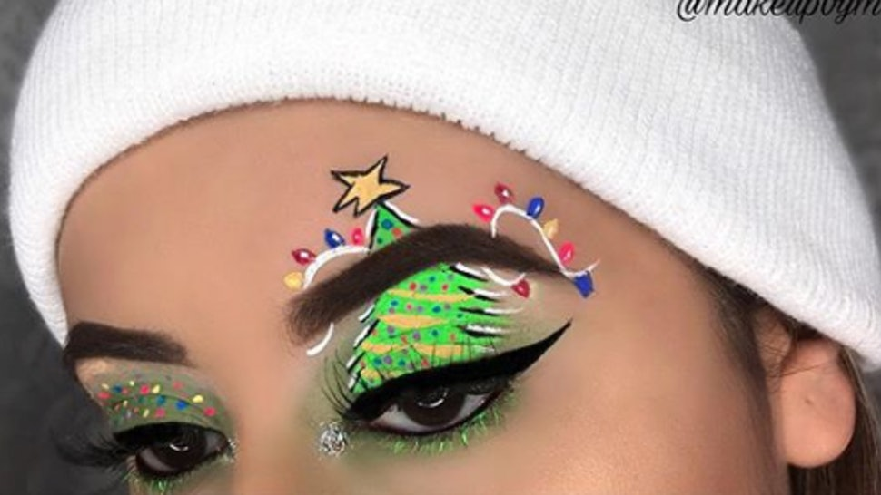 These Instagram Holiday Makeup Looks Will Give You Serious Festive - Christmas-makeup