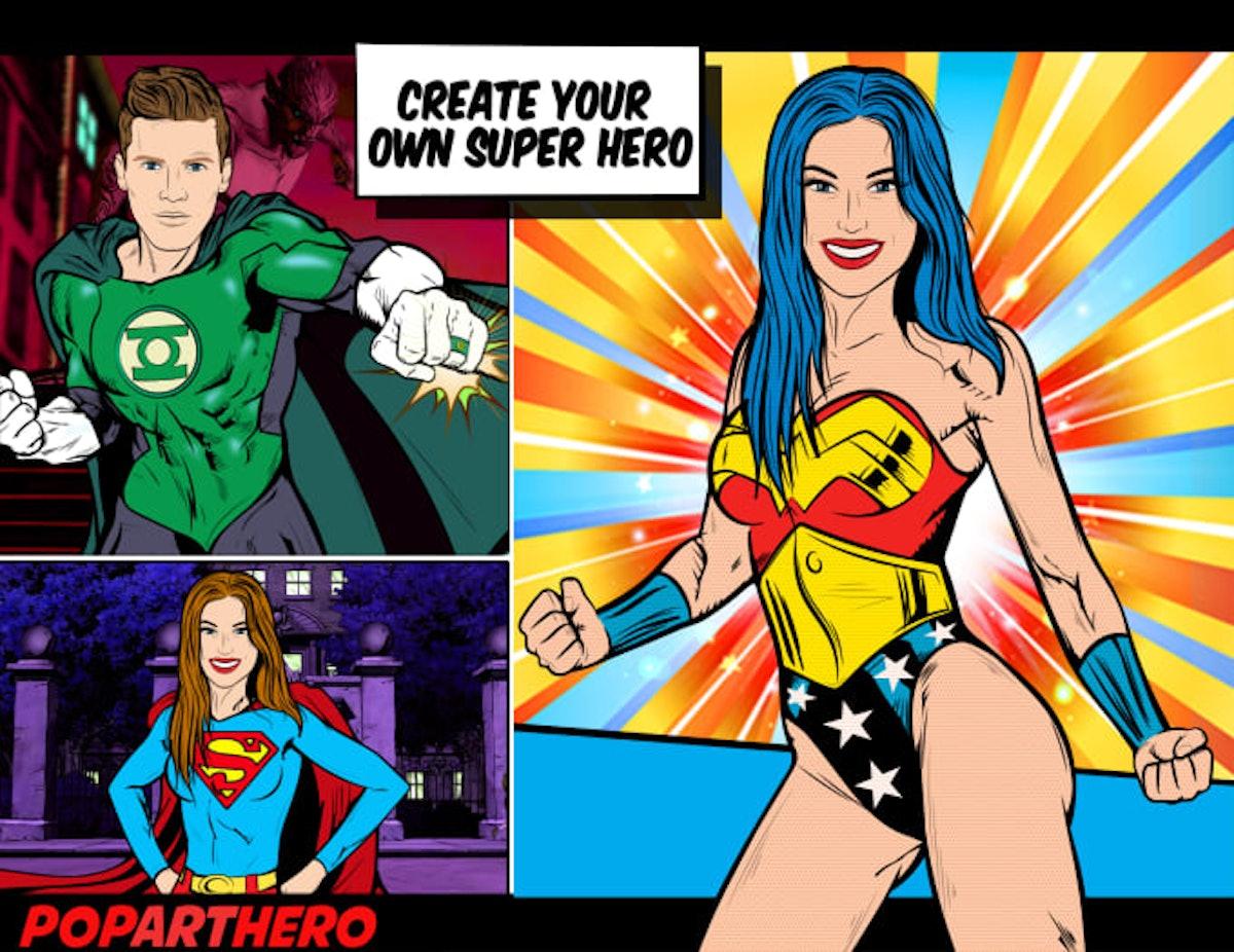 Custom Comic Book Superhero Portrait