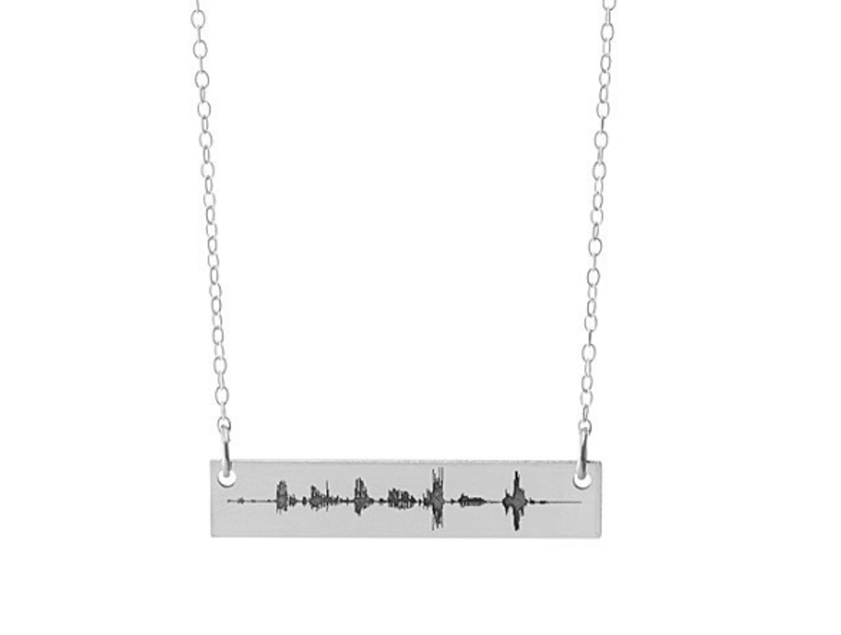 Custom Sound Wave Necklace