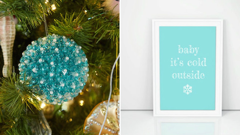 Aqua Christmas Ornaments.9 Tiffany Blue Christmas Decorations That Are Beyond Stunning