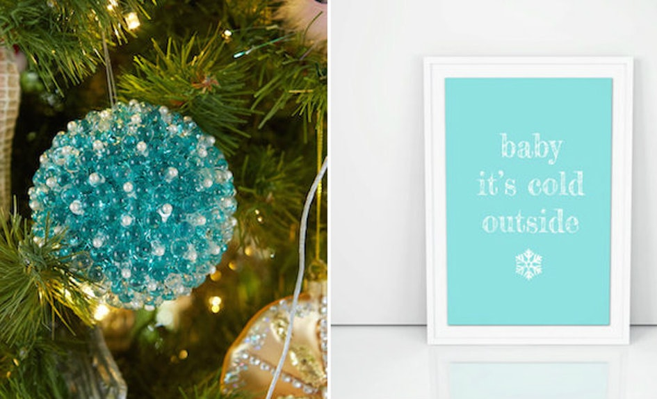 9 tiffany blue christmas decorations that are beyond stunning - Aqua Christmas Decorations