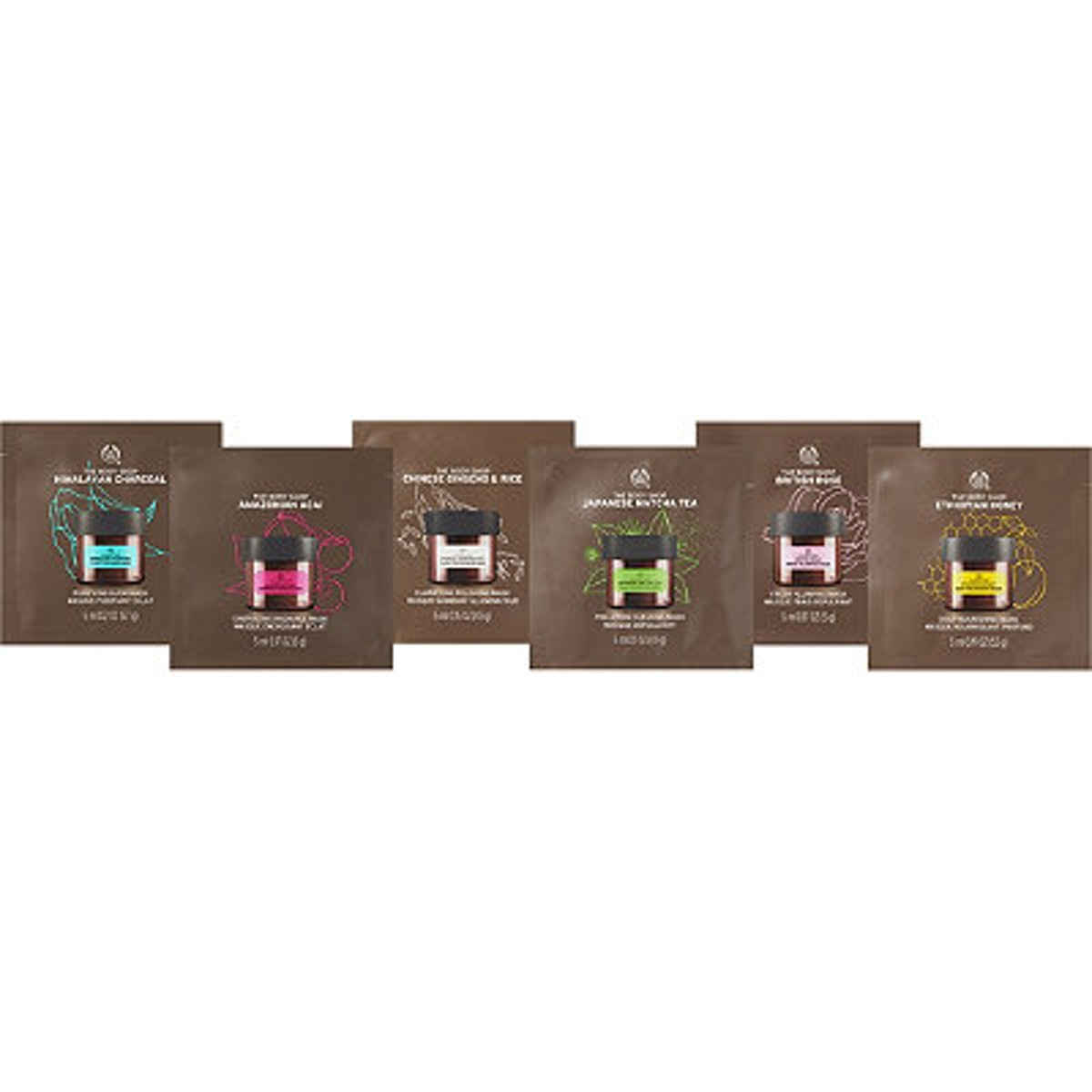 The Body Shop Online Only Multi- Mask Trial Set