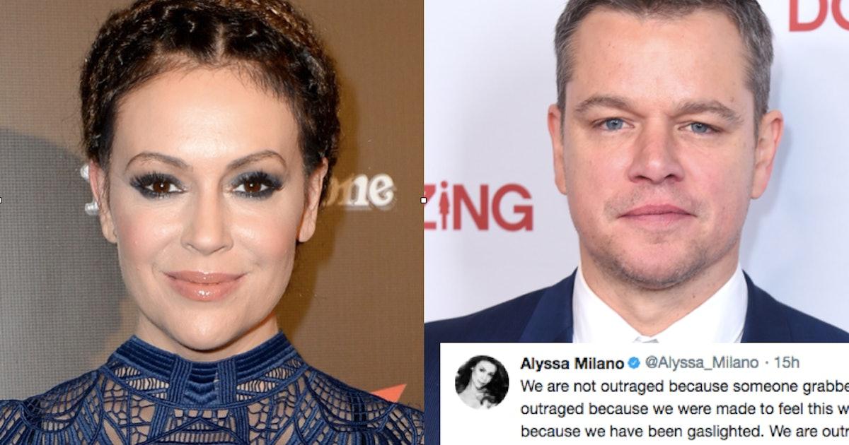 Alyssa Milano's Tweets To Matt Damon Spread An Important Message About Sexual Assault